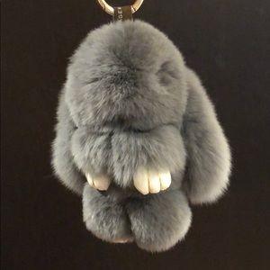 🐰Brand New! Mink Fur Bunny purse charm.